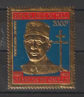 Mali 1971 Timbre Or PA 114 G De Gaulle ** MNH - Mali (1959-...)