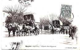 TOP : ALGERIE - MARNIA - LE DEPART DES DILIGENCES EN 1907 Bb-565 - Autres Villes