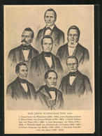 AK Schweiz, Der Erste Bundesrat Von 1848, Jonas Furrer Von Winterthur, Henry Druey Von Faoug, Ulrich Ochsenbein Von Th - Suiza