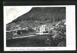 AK Triesenberg, Liechtenstein, Samina, Ortsansicht Mit Wäldern - Liechtenstein