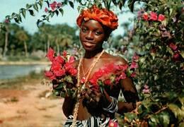 CPM - SIERRA LEONE - Jeune Fille Aux Fleurs - Sierra Leone