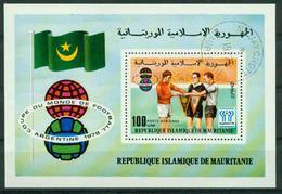 BM Mauritania 1977 MiNr Block 19 (589) Mini Sheet Used, World Cup Football Championship-Elimination Rounds - Mauritania (1960-...)