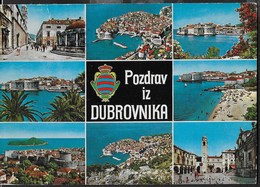SALUTI DA DUBROVNIK - POZDRAV IZ DUBROVNIKA - VIAGGIATA FRANCOBOLLO ASPORTATO - Saluti Da.../ Gruss Aus...