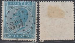 """Belgique - COB 18 Oblitération LP """"361"""" Tirlemont (DD) DC3238 - 1865-1866 Profile Left"""