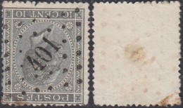 """Belgique - COB 17 Oblitération LP """"401"""" Wetteren (DD) DC3247 - 1865-1866 Profile Left"""