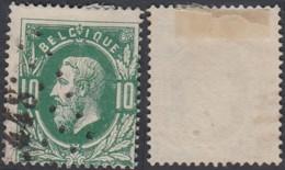 "Belgique - COB 30 Oblitération LP ""448"" Ledeberg (DD) DC3264 - 1869-1883 Leopold II"