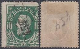 """Belgique - COB 30 Oblitération LP """"454"""" Mons Station 1 Coin Rond (DD) DC3265 - 1869-1883 Leopold II"""