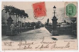 VENEZUELA CARACAS Saludo Puente De Hierro Timbre Surchargé Correos Vale B 0,05 1904 - Venezuela
