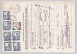 Hohe Frankatur Auf Bollettino Di Spedizione (br6284) - 6. 1946-.. Republik