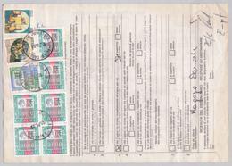 Hohe Frankatur Auf Bollettino Di Spedizione (br6285) - 6. 1946-.. Republik