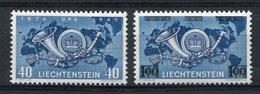 1949/50- LIECHTENSTEIN-U.P.U. + SURCH. 2 VAL. - M.N.H.-LUXE !! - Ongebruikt