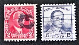 CANAL ZONE 1928 - OBLITERES - MI 71A + 76A - Panama