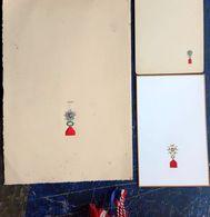 LEGION D'HONNEUR 3 DOCUMENTS ANCIENS VIERGES GRAVES REPRESENTANT LES MEDAILLES D'OFFICIER ET DE CHEVALIER VERS 1900 - Livres, Revues & Catalogues