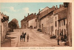 Faulquemont -     Rue De  Pont  à  Mousson. - Faulquemont