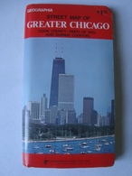 STREET MAP OF GREATER CHICAGO. COOK COUNTY. PARTS OF WILL AND DUPAGE COUNTIES - USA, GEOGRAPHIA, 1980 APROX. - Roadmaps