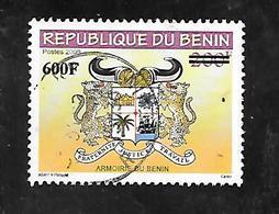 TIMBRE OBLITERE DU BENIN SURCHARGE EN 2009 N° MICHEL 1638 - Bénin – Dahomey (1960-...)