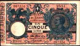 1790) 5 LIRE VITTORIO EMANUELE III-DEC. 17-5-1915 -FDS - [ 1] …-1946: Königreich