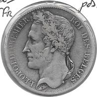 Leopold  I  5 Francs 1833 Pos A Fr+ - 1831-1865: Léopold I
