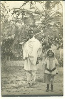 ETHIOPIE - DIRE DAWA / CARTE PHOTO PETITE FILLE COLON ET SON DOMESTIQUE - Ethiopia