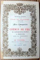 43 CRAPONNE MENU ET PROGRAMME DES FESTIVITES  INAUGURATION CHEMIN DE FER ST BONNET LE CHATEAU CRAPONNE 1897 - Craponne Sur Arzon