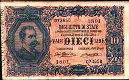 1791) 10 LIRE VITTORIO EMANUELE III (EFFIGE DI UMBERTO I)-DEC. 23-4-1914 -SPL - Italia – 10 Lire