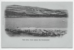 Port Erin, From Above The Breakwater - Valentine - Blue Undivided Back - Isle Of Man