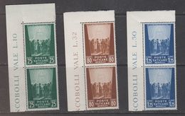 Vatican City 1944 Hilfswerk 2x3v ** Mnh (42760C) - Vaticaanstad