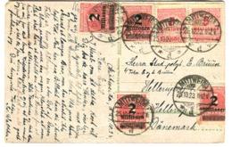 INFLA AK 18 Millionen Nach Dänemark 25.10.1923 - Brieven En Documenten