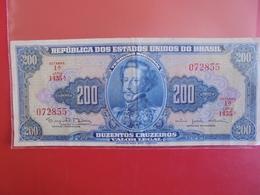 BRESIL 200 CRUZEIROS 1961-64 CIRCULER BELLE QUALITE - Brazil
