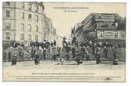 PARIS 1871 - LA COMMUNE (4.) - BARRICADE DE LA CHAUSSEE MENILMONTANT - CPA - Andere