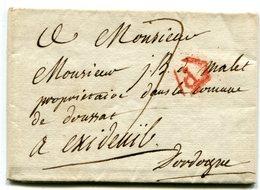 PARIS Pour EXIDEUIL DORDOGNE LAC Du 13/08/1807 Taxée à 7 - Marcophilie (Lettres)