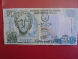 CHYPRE 10 POUNDS/LIVRES 1997 CIRCULER BONNE QUALITE - Cyprus