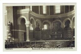 Edegem. Binnezicht Der Parochia' E Kerk Uen O.L.V. Van Lourdes. Photo-carte.  **** - Edegem