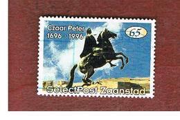 OLANDA (NETHERLANDS) - PRIVATE POST - SELECT POST ZAANSTAD - 300^ ANNIVERSARY OF TSAR PETER I THE GREAT   -  USED - Paesi Bassi