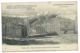 PARIS 1871 - LA COMMUNE (5.) - RENVERSEMENT DE LA COLONNE VENDOME - CPA - Autres