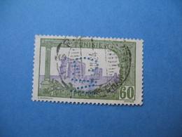 Perforé  Perfin   Tunisie ,   Perforation :   CN 9    à Voir - Tunesien (1888-1955)