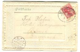 BAHNPOST Zugstempel LEIPZIG-HOF Zug 6235 1904 Auf AK Altenburg S.A. - Deutschland