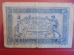 "FRANCE ""TRESORERIE"" 50 CENTIMES CIRCULER - Treasury"