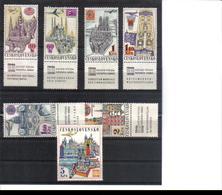 POL469 TSCHECHOSLOWAKEI CSSR 1967 MICHL 1738/44 Zf Mit ZIERFELD ** Postfrisch SIEHE ABBILDUNG - Tschechoslowakei/CSSR