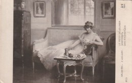***  PEINTURE  ***   Salon De Paris 1911 - E GELHAY  Le Petit Déjeuner - écrite TTB - Paintings
