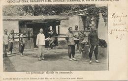 Un Personnage Chinois En Promenade . Palanquin . Raphael Tuck Pub Chocolat Cima Nice . 1902 - China