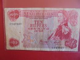 MAURITIUS 10 RUPEES 1967 CIRCULER - Mauritius