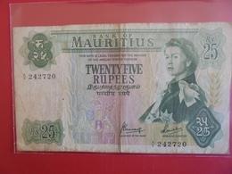 MAURITIUS 25 RUPEES 1967 CIRCULER - Mauritius
