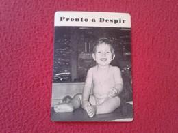 CALENDARIO DE BOLSILLO MANO PORTUGAL PORTUGUESE CALENDAR 1986 PRONTO A DESPIR JOVI PORTO NIÑO PEQUEÑO BOY CHILD VER FOTO - Calendarios