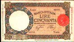 1794) 50 LIRE LUPETTA(FASCIO)L'AQUILA-DEC. 13-2-1943 -SPL - 50 Lire