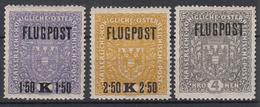 OOSTENRIJK - Michel - 1918 - Nr 225yA/27yA (26x29mm) - MH* - Airmail