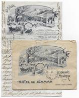SUISSE - 1907 - ENVELOPPE + LETTRE PUB DECOREES HOTEL DE JAMAN (SKI, LUGE...) à LES AVANTS (MONTREUX) - Lettres & Documents