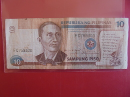 PHILIPPINES 10 PISO 1995-97  CIRCULER - Philippines