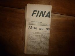 1943 FINANCES FRANÇAISES :Colbert Et Fouquet ; Change Des Monnaies à Venise Au 18e Siècle;etc - Zeitungen