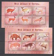 I1023 ERITREA FAUNA WILD ANIMALS OF ERITREA !!! 2KB MNH - Sellos